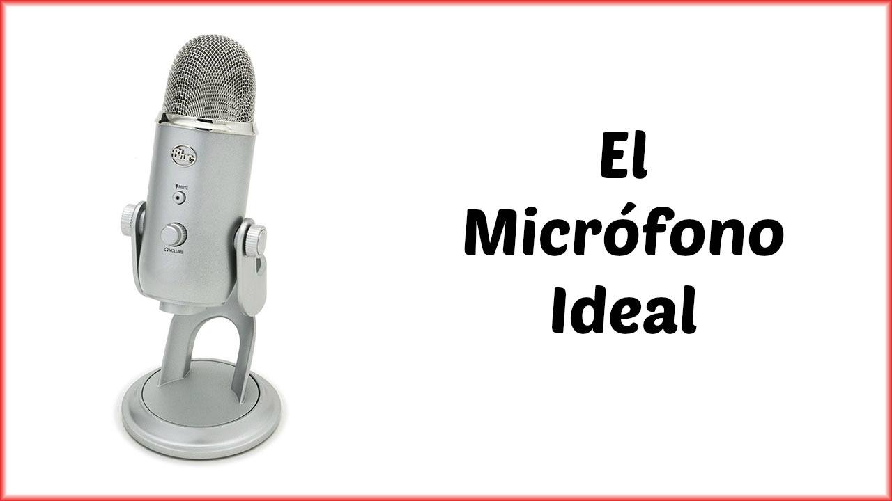 Micrófono Blue Yeti ideal para grabar y hacer videos y podcasts