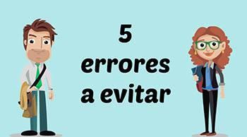 5 errores a evitar en tu sitio web