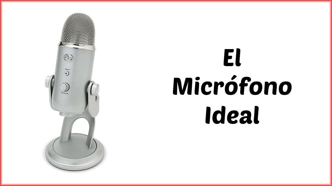 Micrófono Blue Yeti ideal para grabar y hacer videos y podcasts